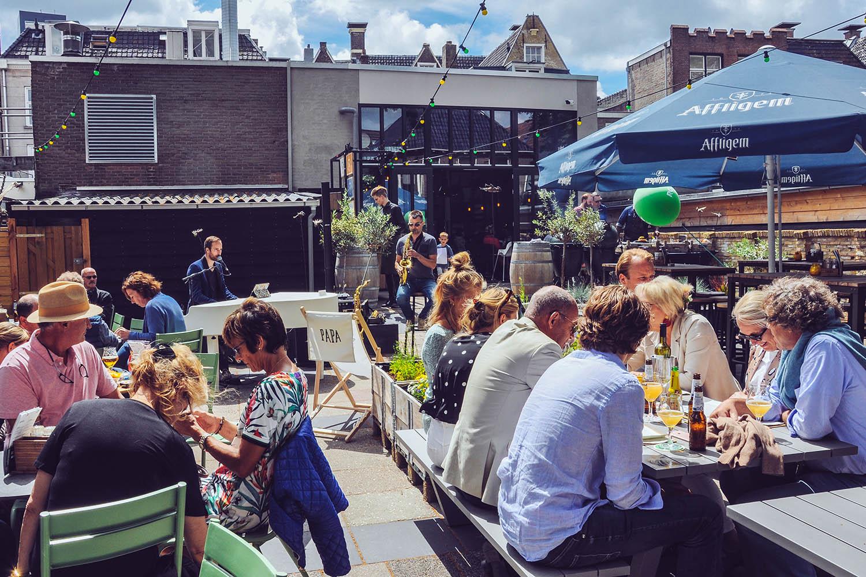 Restaurant tuin Leeuwarden